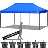 ABCCANOPY 18+ Colors 10x20 Pop up Instant Canopy Commercial Outdoor Canopy Wheeled Carry Bag Bonus 6X Weight Bag (Royal Blue)