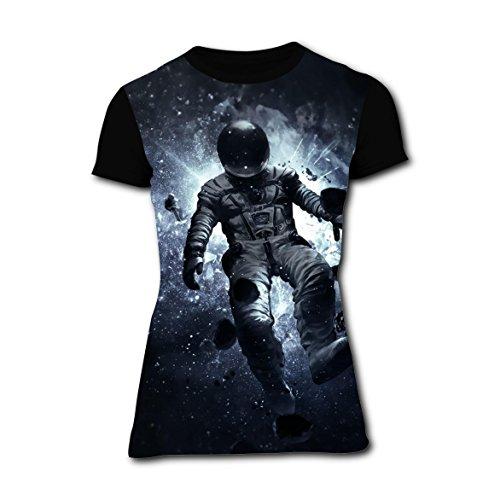 T-shirts Tee Shirt for Women Tops Costume Falling Spaceman Major Tom XXL (Women's Plus Size Space Costume)