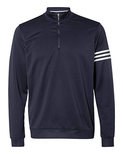 adidas Mens Climalite 3-Stripes Pullover (A190) -Navy/White -4XL
