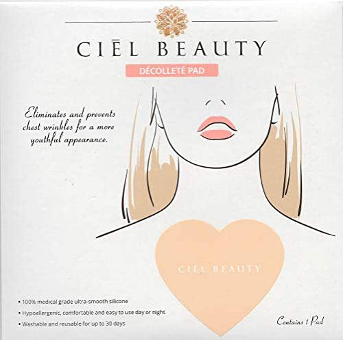 Ciél Beauty Anti-Wrinkle Silicone Décolleté Pad - Prevents and Treats Chest Wrinkles and Fine Lines From Sun Damage and Aging - 100% Medical Grade Silicone