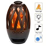 LED Flame Speaker Wireless Bluetooth Speaker Tiki Torch Lights Flickering Flame Create a Perfect Evening Outdoor Mood Extensible Storage TF Brings You Interesting Outdoor Trips and Parties