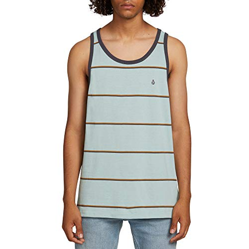 Volcom Men's Shaneo Striped Tank Top, sea Glass, ()
