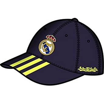 Real Madrid C.F. Real 3S Cap Gorra, Hombre, Azul Oscuro/Amarillo ...