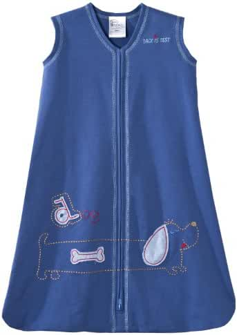 HALO SleepSack 100% Cotton Wearable Blanket Blue Dog Small