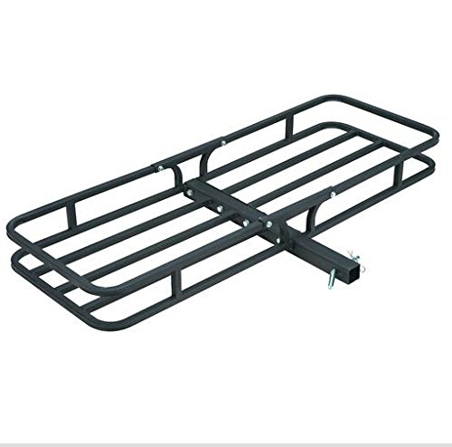 TruePower 29-2903 53'' Hitch Mounted Steel Cargo Carrier Basket (500 Lb. Capacity) by TruePower