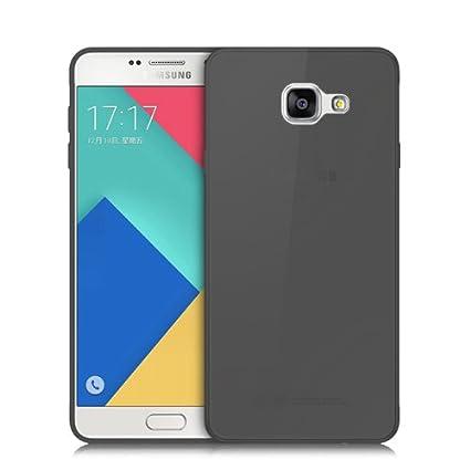 Donkeyphone S12J32G1200 - Carcasa de Silicona para Samsung Galaxy j3 y j3 2016 j300f y j310f Gel TPU Lisa, Color Negro