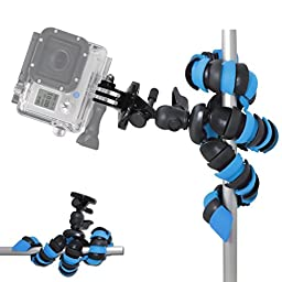 AVAWO Universal 12-Inch Mini Flexible Tripod with Wrapable Leg Quick Release Plate and Cell Phone Tripod Adapter for Smartphones