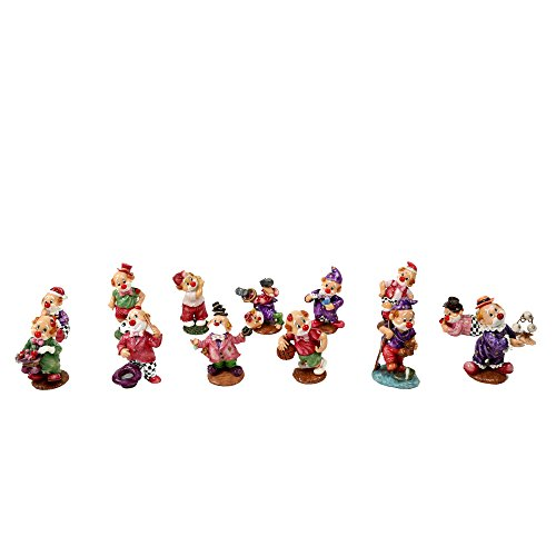 CTG, Porcelain Poly Clown Figurine Set, 16 Styles, 4.5 inches, Multicolor]()