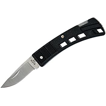 Buck Knives 0425 MiniBuck Folding Knife, Black Handle