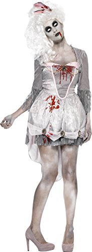 [Smiffy's Women's Zombie Georgian Costume, Dress and Headpiece, Zombie Alley, Halloween, Size 10-12, 61102] (Zombie Fancy Dress Costumes Uk)