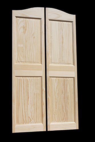 "Cafe Doors by Cafe Doors Emporium | 65""T Pine Raised 4 Pa..."