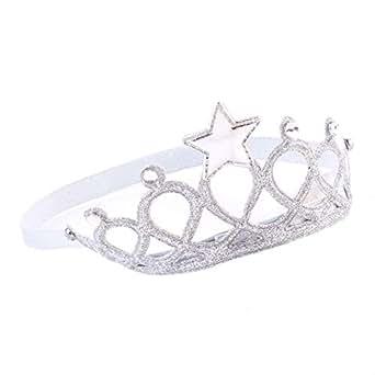 Nrpfell Baby Girl Headband Lace Hairband Girls Pearl Flower Headbands Hair Accessories (Headwear Silver)