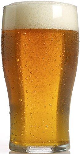 Circleware 44373 Circleware Tasteful Pilsner Beer Glasses (Set of 4), 19.25 oz