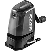 Bostitch Multi-Mount Manual Pencil Sharpener, Vacuum Mount or Screw Mount, Black (MPS2-BLK)