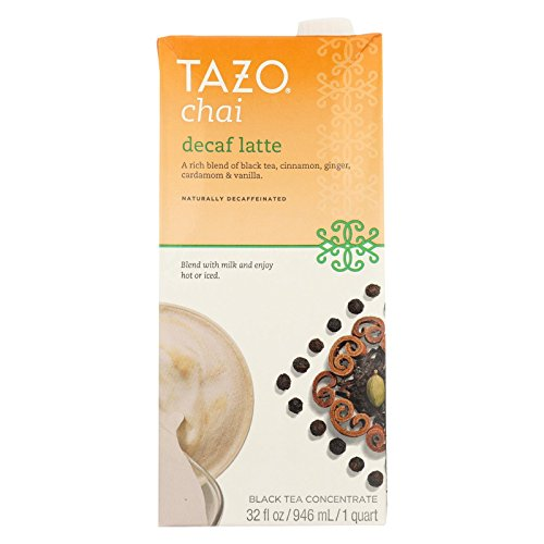 (Tazo Chai Decaffeinated Tea Latte Liquid Concentrated Tea, Three (3) Count 32-Ounce Packs)