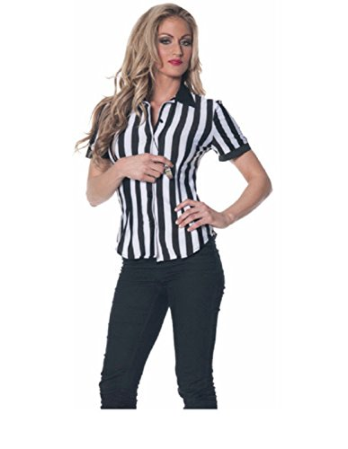 Underwraps Women's Referee Fitted Shirt, Black/White, Small for $<!--$15.54-->