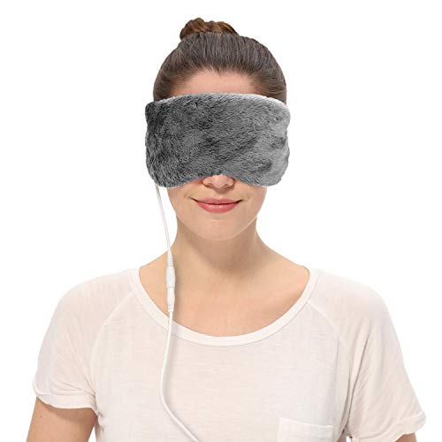 Aroma Season USB Heating Lavender Steam Eye Mask, Relieve Belpharitis, Stye, Dry Eyes, Tired Eyes, Puffy Eyes (Gray)