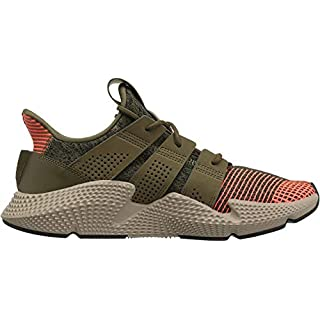 adidas Originals Men's Prophere Running Shoe, Trace Olive/Trace Olive/Solar red, 10.5 M US