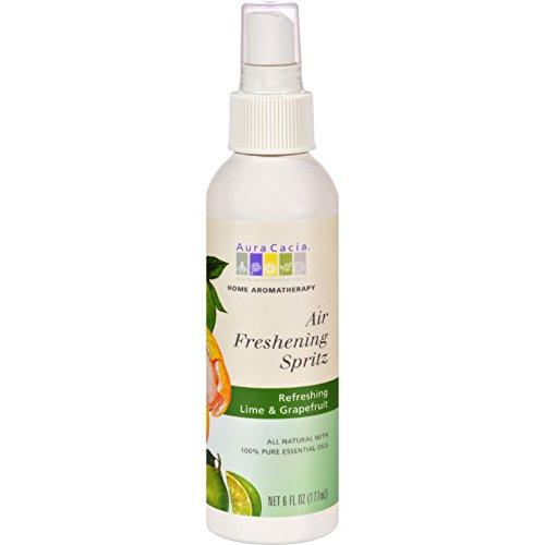 Aura Cacia Natural Perfume Fruit (2 Pack of Aura Cacia Air Freshening Spritz Lime and Grapefruit - 6 fl oz)