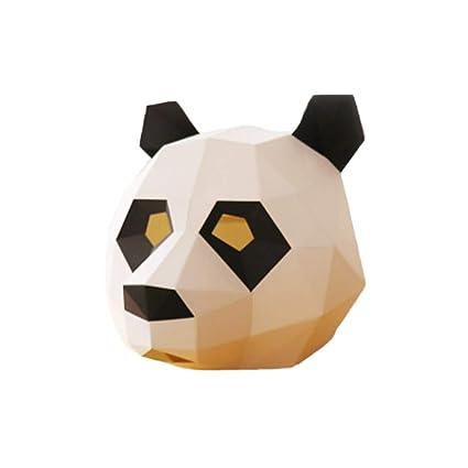 JAGENIE Halloween Accesorios Super 3D Panda Máscara Halloween Juguete Festival Cosplay Disfraz Fiesta Máscara Foto Prop