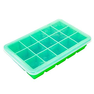 JJ. Accesorios de silicona cubitera de hielo bandejas con tapas ...