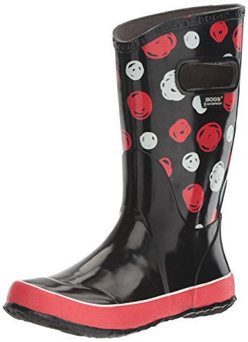 Bogs Kids Rubber Waterproof Rain Boot Boys Girls, Sketched Dots/Black/Multi, 2 M US Little Kid