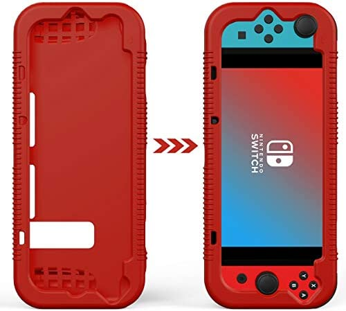 Semeving for Nintendo Switch Case,Soft Protective Case with Ergonomic Grip Design,Shock-Absorption&Anti-Scratch (Red)
