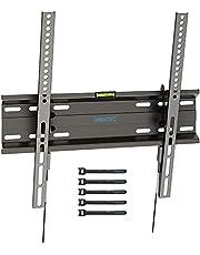 BONTEC TV Muurbeugel, Kantelbare TV Beugel voor de Meeste 23-55 inch LED, LCD, OLED, Plasma Flat &Curved TV's tot 45 kg, Max. VESA 400x400mm, Inclusief 5 klittenbandsluitingen