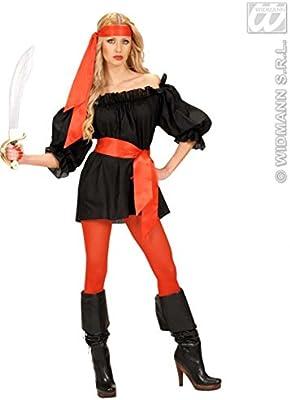 Faja de cintura de disfraces pirata de satén rojo: Amazon.es ...