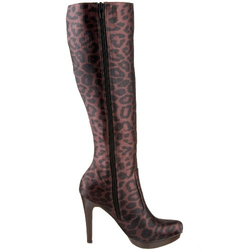 Santana Carlos by Boot Challenge Womens Carlos Shaft Tall Brown Leopard xq1EwOW5d