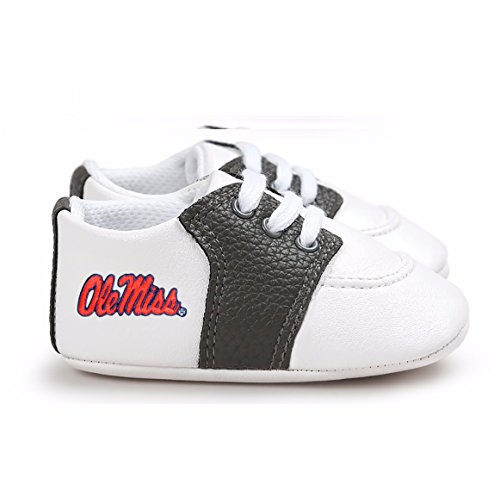 Future Tailgater Mississippi Ole Miss Rebels Pre-Walker Baby Shoes - Black Trim