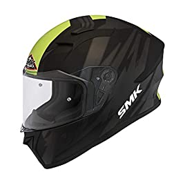 SMK Helmets Men's MA264 Trek Graphics Pinlock Fitted Full Face Helmet with Clear Visor, XL, Multi-coloured