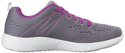 Skechers Sport Womens Burst Fashion Sneaker Grigio / Viola