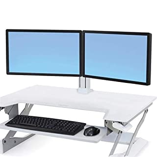 Ergotron WorkFit Dual Monitor Kit Stand, White (B0135YA7NW) | Amazon price tracker / tracking, Amazon price history charts, Amazon price watches, Amazon price drop alerts