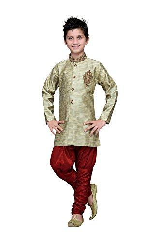 PinkCityCreations Indian Designer Partywear Ethnic Wedding Ivory Wedding Readymade Kids by PinkCityCreations