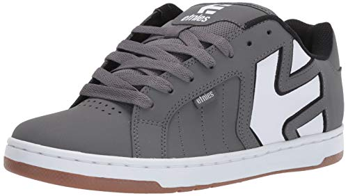 Etnies Men's Fader 2 Skate Shoe, Grey/White, 12 Medium US