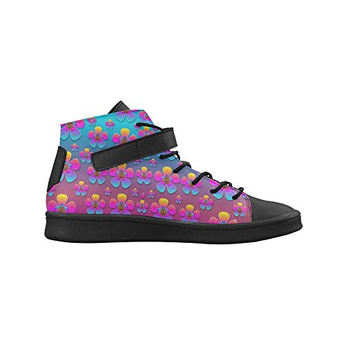 D Top Story Rainbow Round Shoes High Arts Sneakers Womens Toe wrrPIAqv