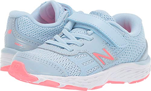 New Balance Girls' 680v5 Hook and Loop Running Shoe, air/Guava, 8.5 M US Toddler (Size 8 Sneakers For Girls)
