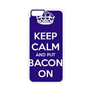 Keep Calm Bacon On iPhone 6 4.7 Inch Cell Phone Case White VAT