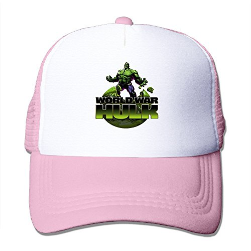 Cool The Incredible Hulk Trucker Cap Baseball Hat (5 Colors) Pink