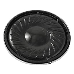 uxcell Electronic 23mm Dia Metal Case Round Internal Magent Speaker 1W 8 Ohm