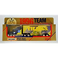 $24 » Matchbox White Rose 1996 NFL MINNESOTA Team Collectible 1:80 Scale Diecast Tractor Trailer VIKINGS