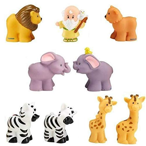 Fisher-Price Little People Noah's Ark Figures/Animals - Noah Zebra Elephant Giraffe Lion
