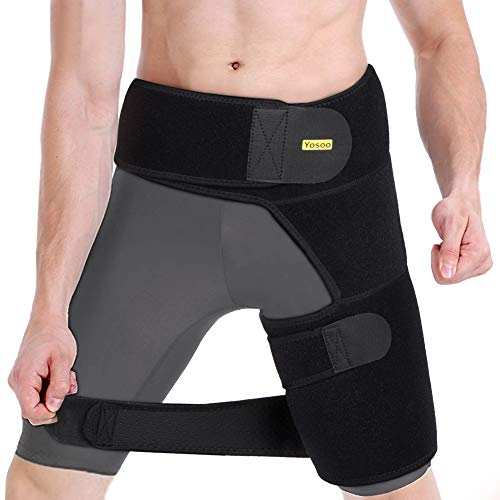 245e85a881 Compression Brace for Hip, Sciatica Relief Wrap Groin Support Adjustable  Hamstring Compression Sleeve for Pulled