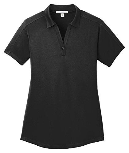 Port Authority Ladies Diamond Jacquard Polo, Black, XXXX-Large