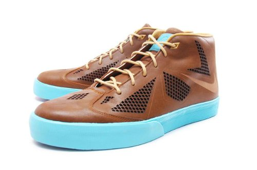 Nike Men's Lebron X NSW Lifestyle Shoes, Brown/Blue, 8