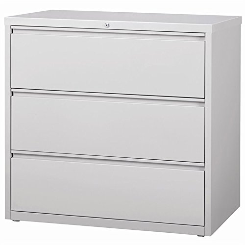 Hirsh HL8000 Series 42'' 3 Drawer Lateral File Cabinet in Light Gray