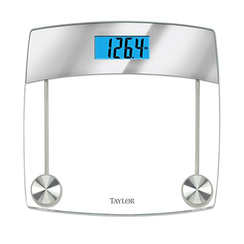 Taylor Precision Products Glass Digital Bath Scale  Clear