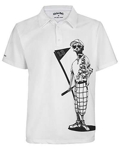 Tattoo Golf Men's Mr. Bones Performance Polo L (Tattoo Golf)