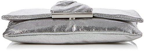 JOOP! Damen Sparkle Yanis Shoulderbag Shf Schultertasche, Silber (Gun), 2x14x24 cm